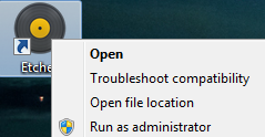 Windows 'Run as Administrator'