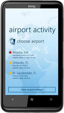 FlightAware WP7 App