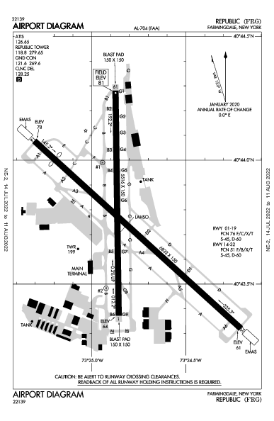 Republic Farmingdale, NY (KFRG): AIRPORT DIAGRAM (APD)