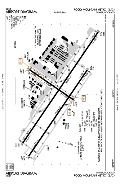Rocky Mtn Metropolitan Airport (Denver, CO): KBJC Airport Diagram