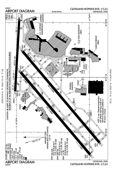 Cleveland-Hopkins Intl Airport (Cleveland, OH): KCLE Airport Diagram