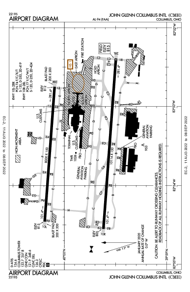 Port Columbus Intl Airport (Columbus, OH): KCMH Airport Diagram