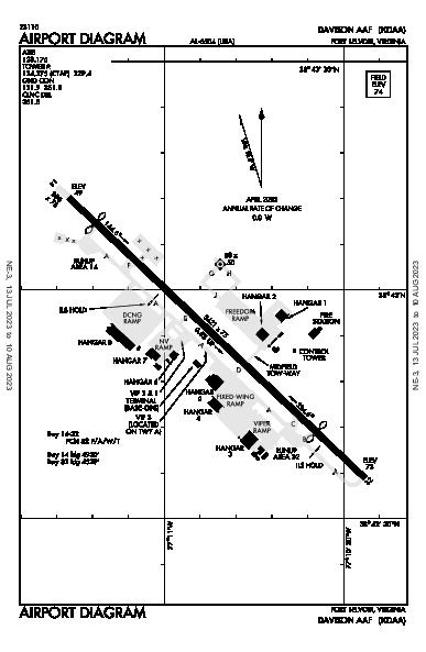 Davison Aaf Airport (Fort Belvoir, VA): KDAA Airport Diagram