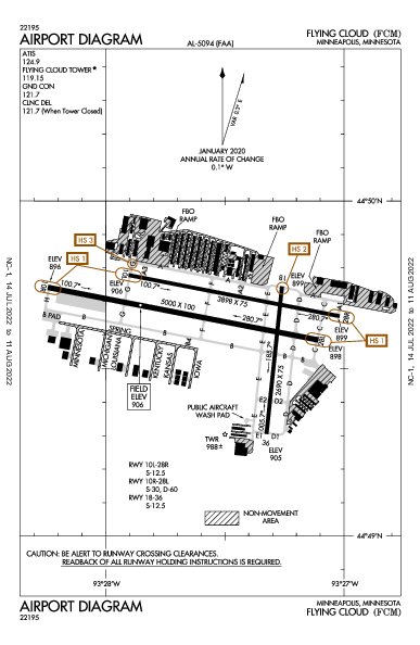 Flying Cloud Airport (Minneapolis, MN): KFCM Airport Diagram