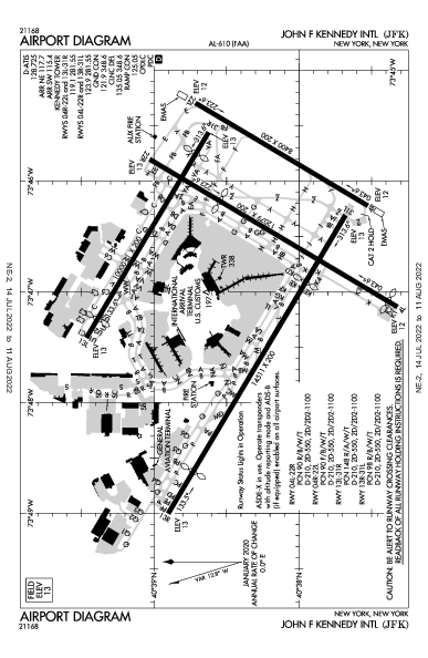 ジョン・F・ケネディ国際空港 Airport (New York, NY): KJFK Airport Diagram