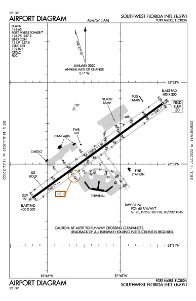 Southwest Florida Intl Airport (Fort Myers, FL): KRSW Airport Diagram