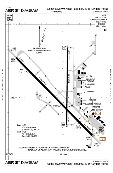 Sioux Gateway Airport (Sioux City, IA): KSUX Airport Diagram