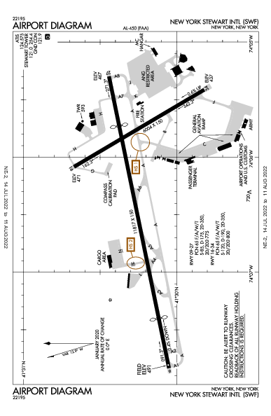 Stewart Intl Airport (New York, NY): KSWF Airport Diagram