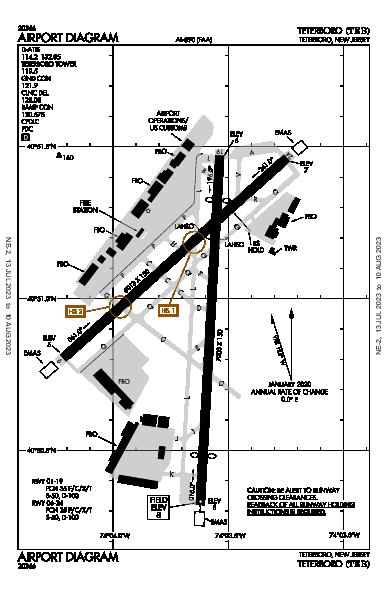 Teterboro Airport (Teterboro, NJ): KTEB Airport Diagram