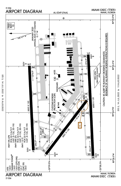 Miami Exec Airport (Miami, FL): KTMB Airport Diagram