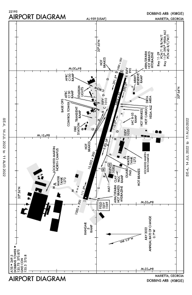 Dobbins Air Marietta, GA (KMGE): AIRPORT DIAGRAM (APD)