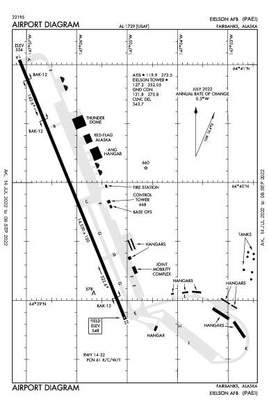 Eielson Afb Airport (Fairbanks, AK): PAEI Airport Diagram
