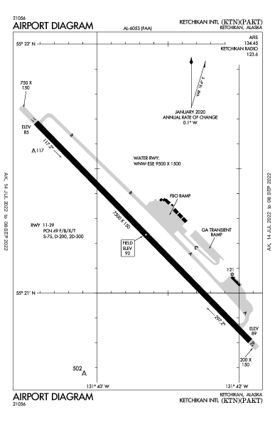 Ketchikan Intl Airport (Ketchikan, AK): PAKT Airport Diagram