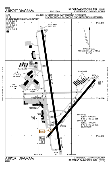 Clearwater Intl St Petersburg-Clearwater, FL (KPIE): AIRPORT DIAGRAM (APD)