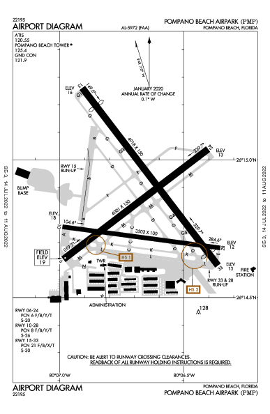 Pompano Beach Airpark Pompano Beach, FL (KPMP): AIRPORT DIAGRAM (APD)