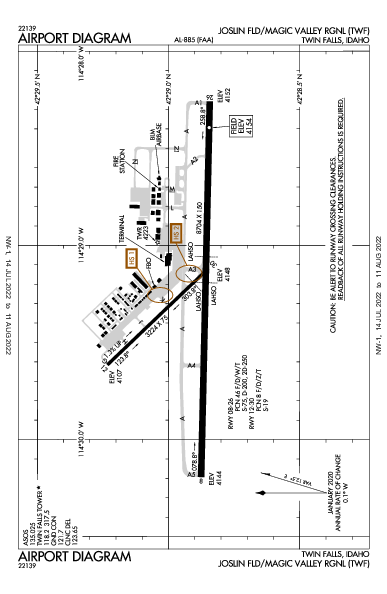 Magic Valley Rgnl Twin Falls, ID (KTWF): AIRPORT DIAGRAM (APD)